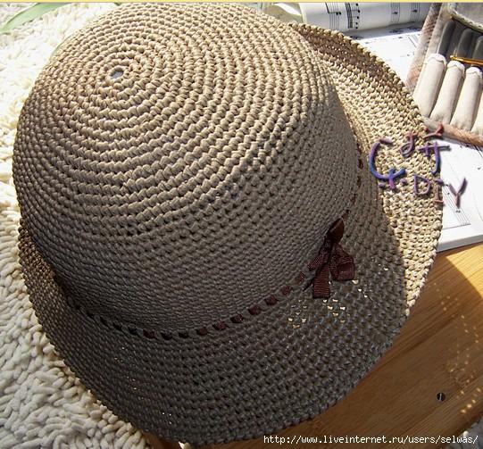 Шляпка-панамка с ленточкой