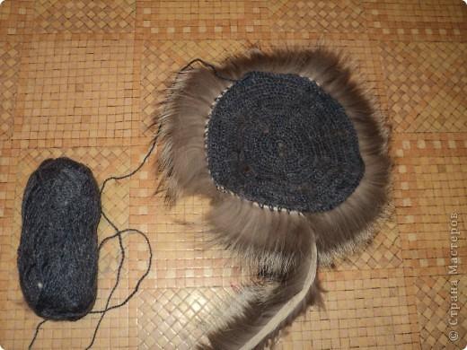 Меховая шапка на вязаной основе своими руками