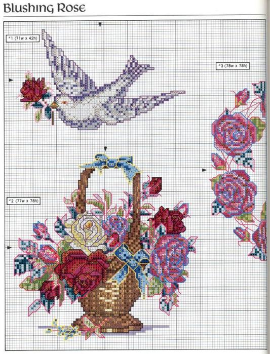 Вышивка крестом красивые схемы винтаж