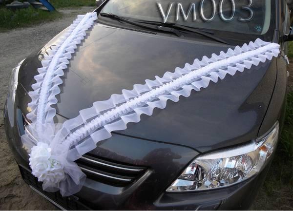 На машину на свадьбу своими руками фото
