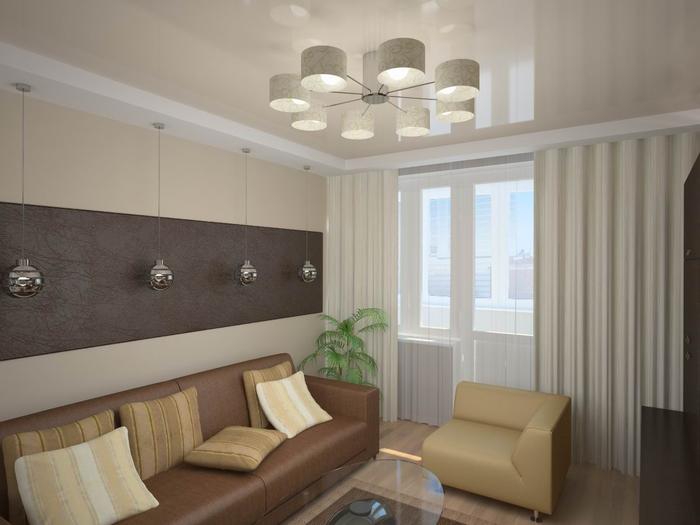 Дизайн проект двухкомнатной квартиры серии И155