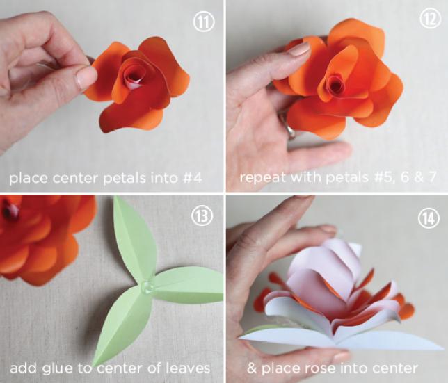 По ссылкам ниже вы можете скачать цветы из бумаги розы других расцветок.  1. роза из бумаги (розовый цвет) .