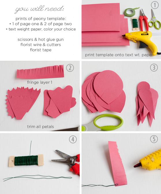 Шаблон для вырезания цветов из бумаги