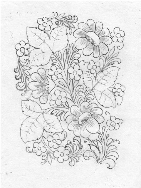 Картинки росписи карандашом