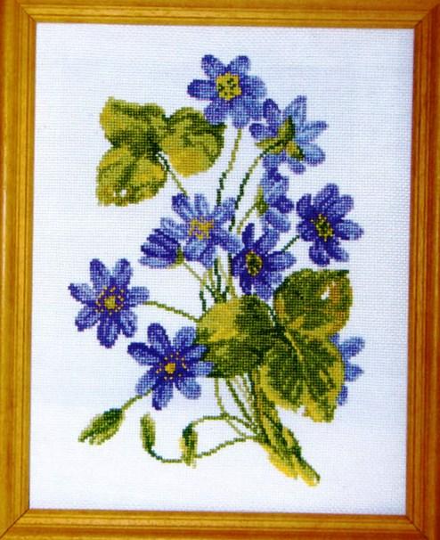 Весенние цветы (Вышивание