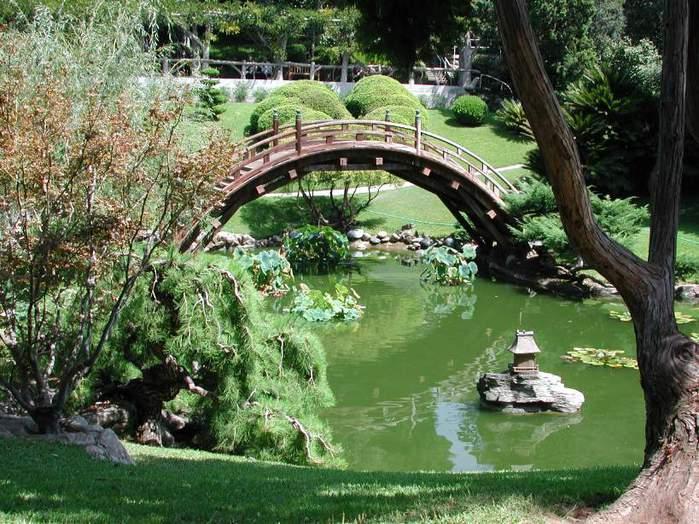 Мостики в японских садах.