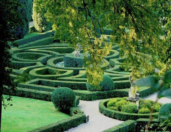 Сад Джусти - достопримечательности Италии 5 (700x540, 185Kb)
