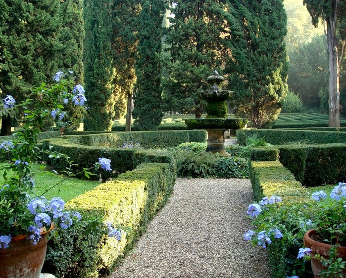 Сад Джусти - достопримечательности Италии 14 (700x563, 212Kb)