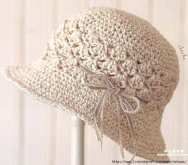 Летняя женская вязаная крючком ажурная шляпка/4683827_20120709_182615 (608x536, 254Kb)