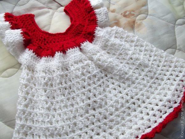 Связать платье крючком на малыша
