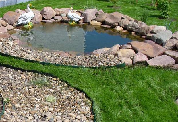 Как сделать озеро на даче