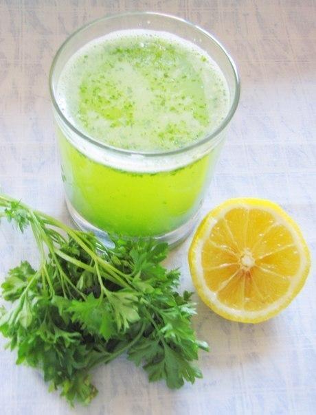 Коктейль для похудения петрушка лимон