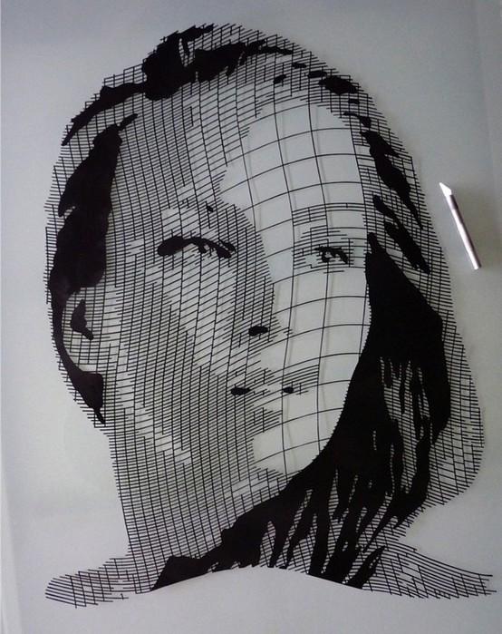 Картины из бумаги вырезанные Крисом Трапеньером