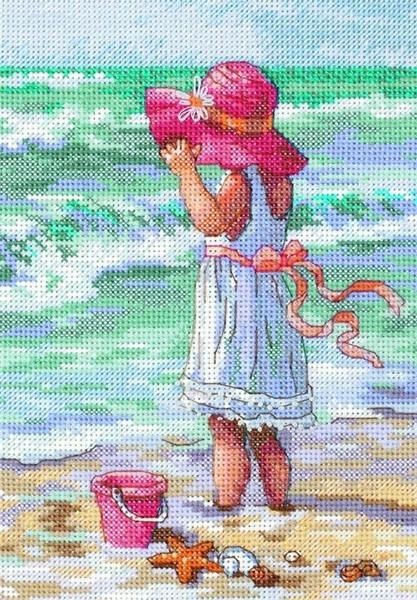Набор для вышивания крестиком Девочка на берегу Производитель