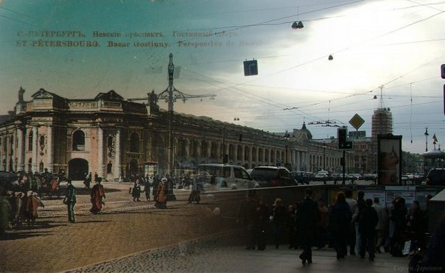 Городские пейзажи Петербурга в прошлом и настоящем 2 (640x393, 63Kb)