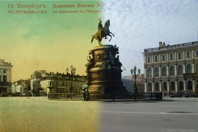 Городские пейзажи Петербурга в прошлом и настоящем 4 (640x427, 71Kb)