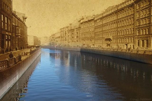 Городские пейзажи Петербурга в прошлом и настоящем 10 (640x427, 83Kb)