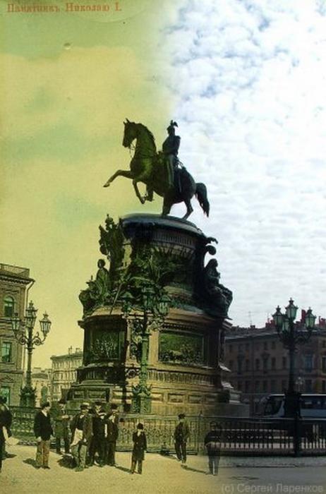 Городские пейзажи Петербурга в прошлом и настоящем 12 (462x700, 294Kb)