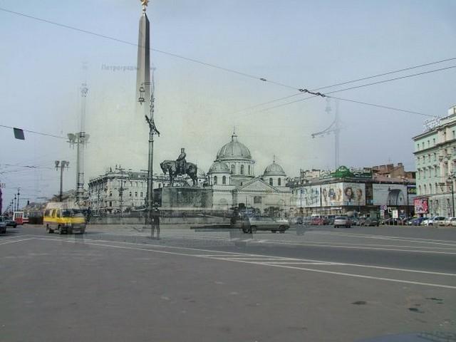 Городские пейзажи Петербурга в прошлом и настоящем 14 (640x480, 59Kb)