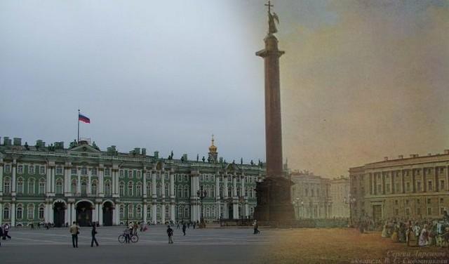 Городские пейзажи Петербурга в прошлом и настоящем 16 (640x376, 47Kb)