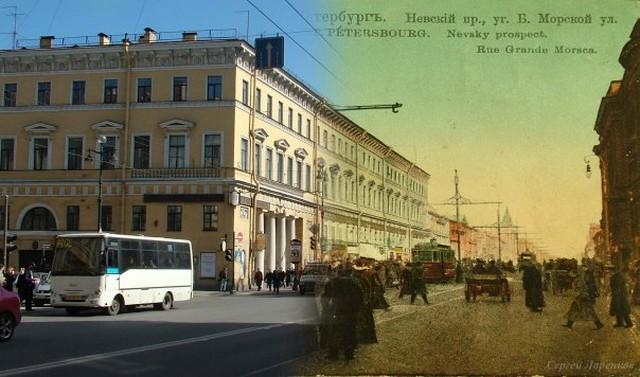 Городские пейзажи Петербурга в прошлом и настоящем 18 (640x377, 73Kb)