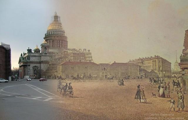 Городские пейзажи Петербурга в прошлом и настоящем 20 (640x411, 58Kb)