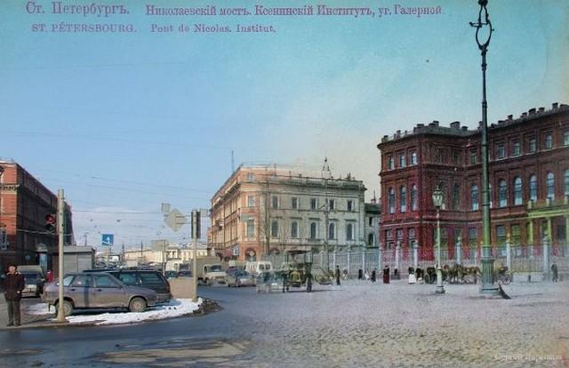 Городские пейзажи Петербурга в прошлом и настоящем 24 (640x414, 74Kb)