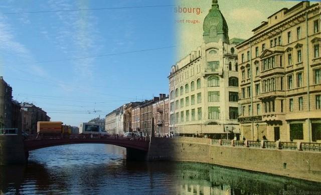 Городские пейзажи Петербурга в прошлом и настоящем 26 (640x390, 76Kb)