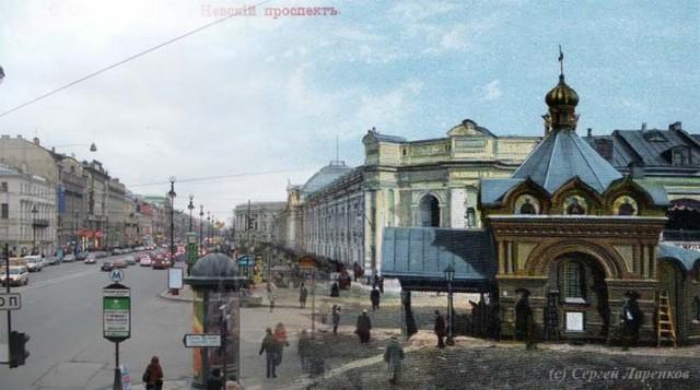 Городские пейзажи Петербурга в прошлом и настоящем 30 (640x357, 64Kb)