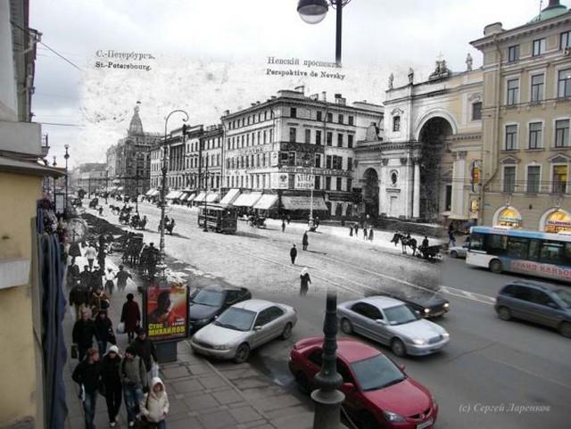 Городские пейзажи Петербурга в прошлом и настоящем 36 (640x481, 91Kb)