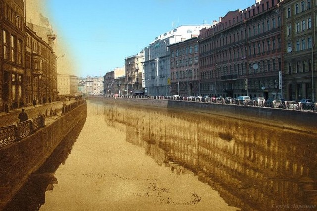 Городские пейзажи Петербурга в прошлом и настоящем 38 (640x427, 87Kb)