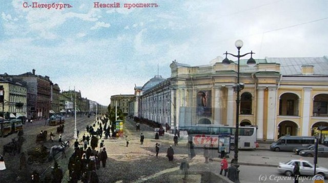 Городские пейзажи Петербурга в прошлом и настоящем 40 (640x357, 65Kb)