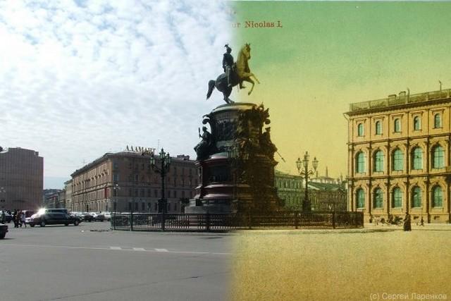 Городские пейзажи Петербурга в прошлом и настоящем 42 (640x427, 68Kb)