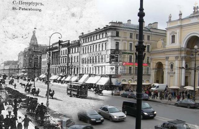 Городские пейзажи Петербурга в прошлом и настоящем 44 (640x416, 90Kb)