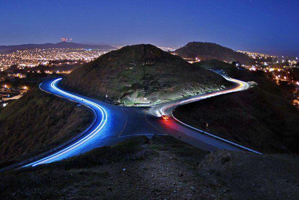 Холмы Твин Пикс и открывающийся с них вид на Сан-Франциско (604x405, 43Kb)