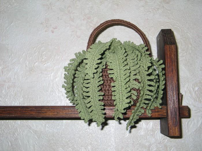 Вязание крючком листья папоротника 8