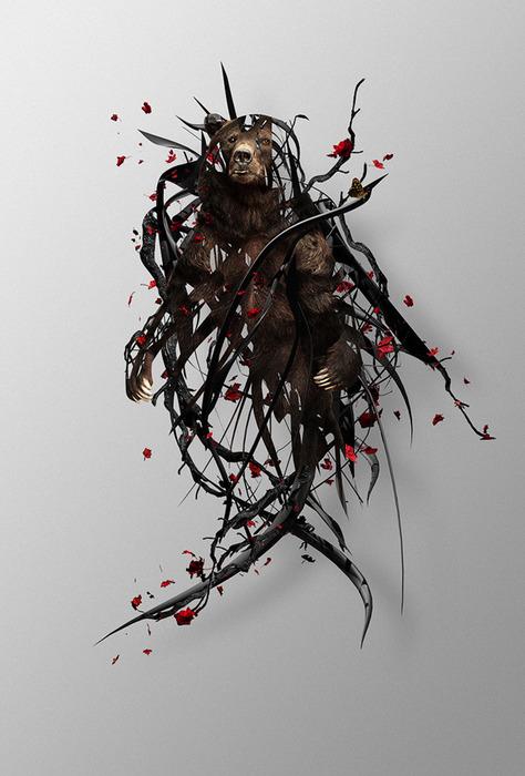 Justin Maller креативные иллюстрации 1 (474x700, 91Kb)