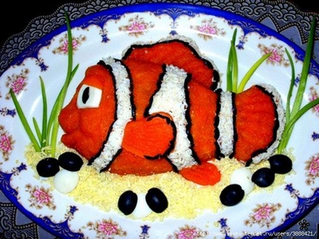 Рецепт салата рыбка фото