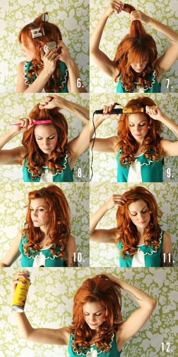 Как сделать красивую прическу с накрученными волосами