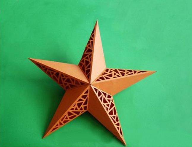 Ажурная звезда из бумаги своими руками