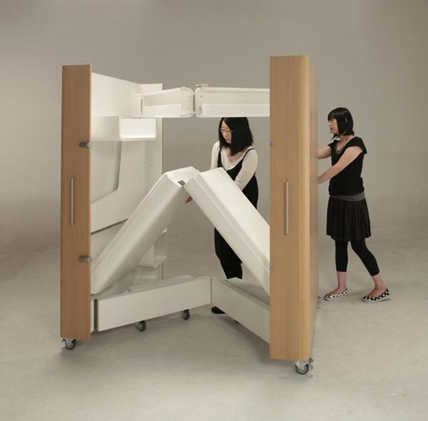мебель трансформер для маленькой квартиры 3 (600x590, 96Kb)