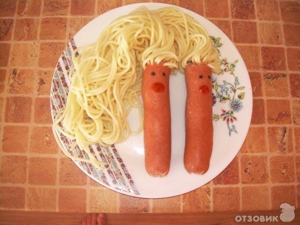 Макароны с сосиской рецепт с фото пошагово