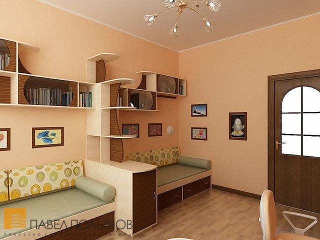 Дизайн детской комнаты для двоих детей 14 метров.