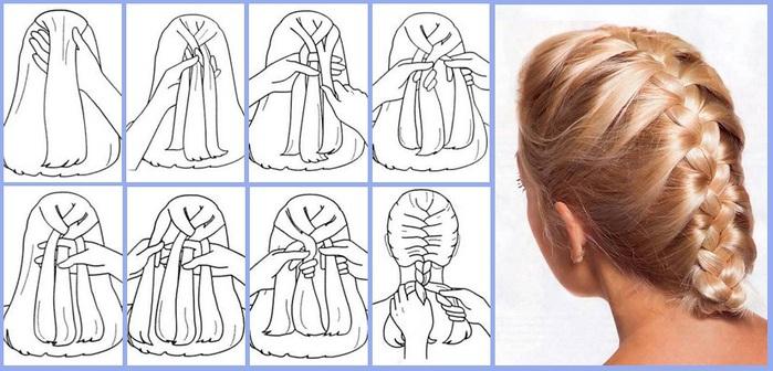 Как сделать ракушку из волос пошаговая инструкция 673
