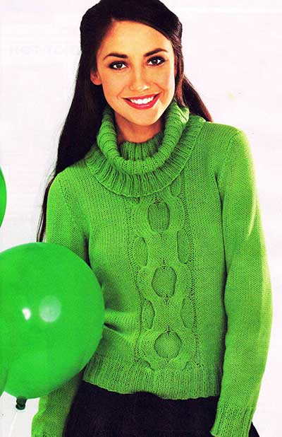 Пуловер-с-центральной-косой (400x618, 37Kb)