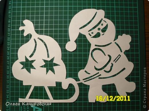 Картинки вытыканки из бумаги шаблоны к новому году