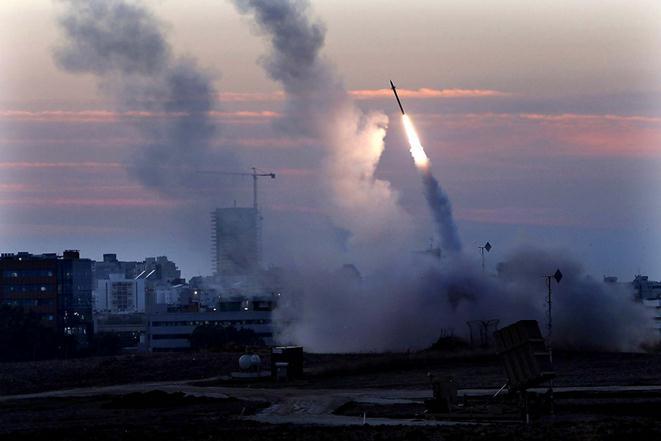Ракетные удары в Израиле и Палестине. Фотографии