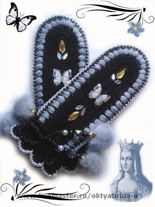 Схема Вязания Варежек Крючком