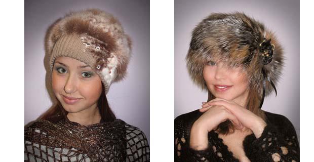 Как вязать шапку из меха норки своими руками