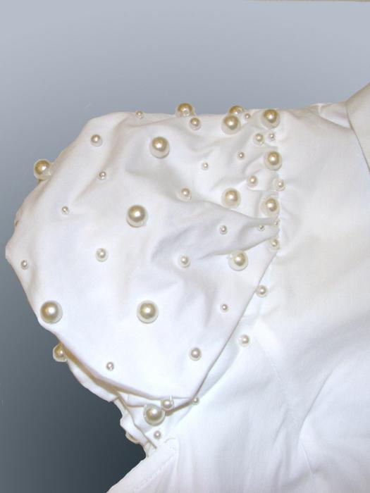 как украсить блузку